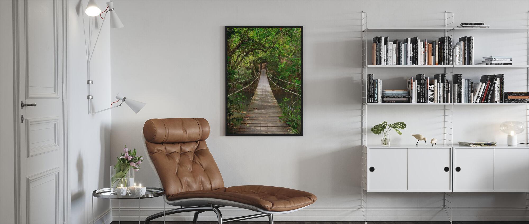 Regnskog vintreet bro - Innrammet bilde - Stue