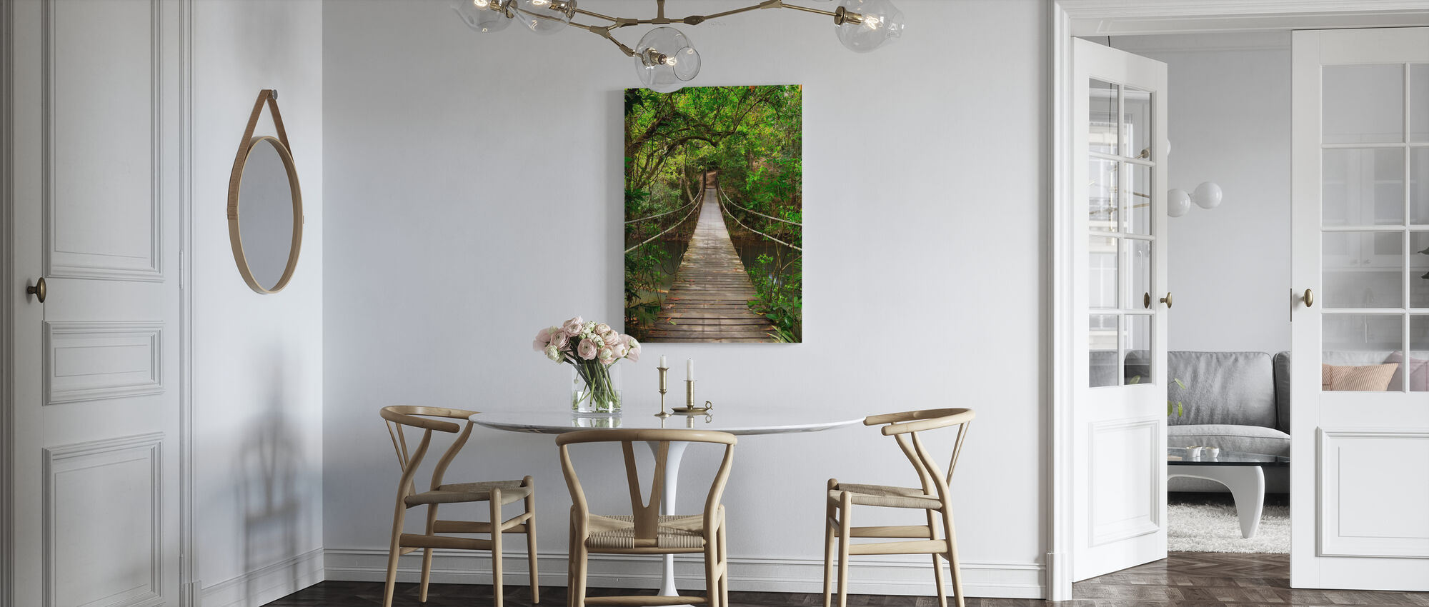 Regnskog vintreet bro - Lerretsbilde - Kjøkken