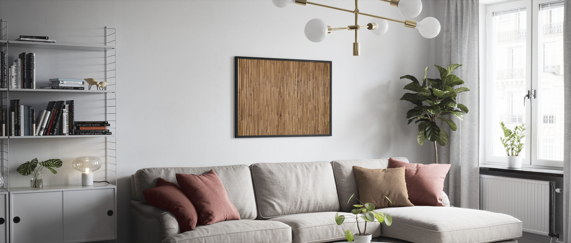Bamboe Textuur - Poster - Woonkamer