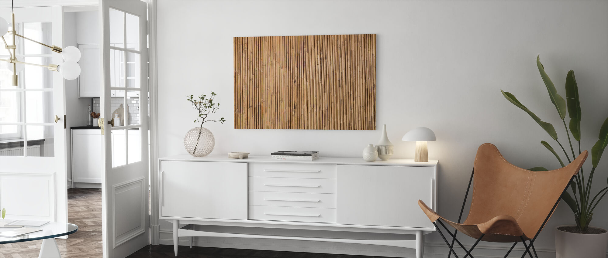 Bamboo Texture - Canvas print - Living Room