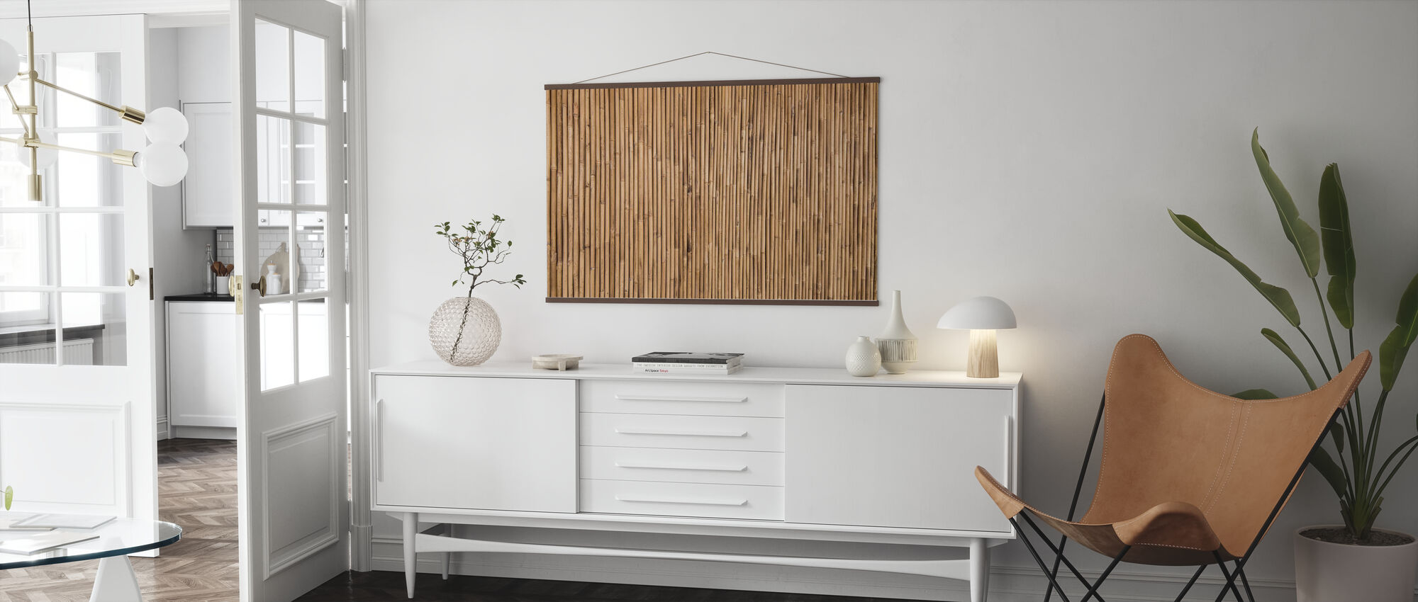 Bamboo Texture - Poster - Living Room