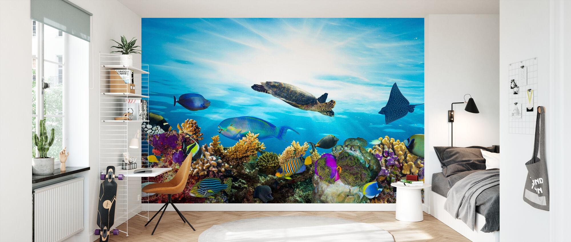 Coral Reef Panorama - Wallpaper - Kids Room