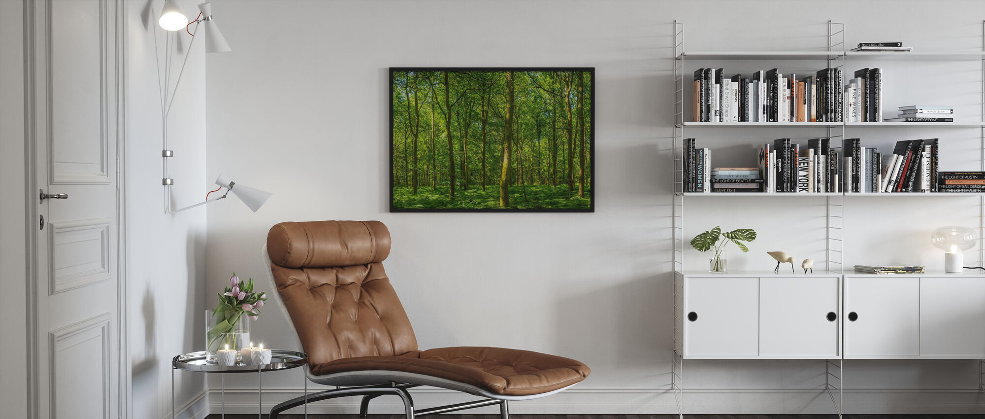 Emerald Green Panorama Forest - Poster - Living Room