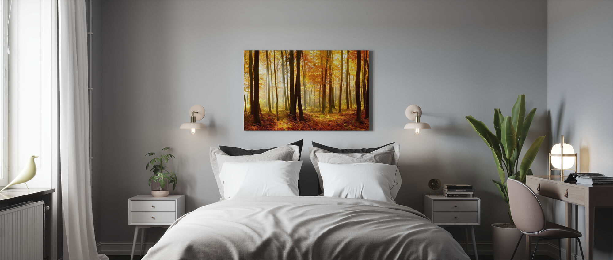 Japanese Forest - Canvas print - Bedroom