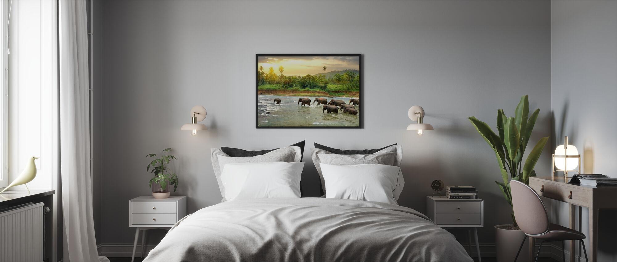 Watelefantenherde - Poster - Schlafzimmer