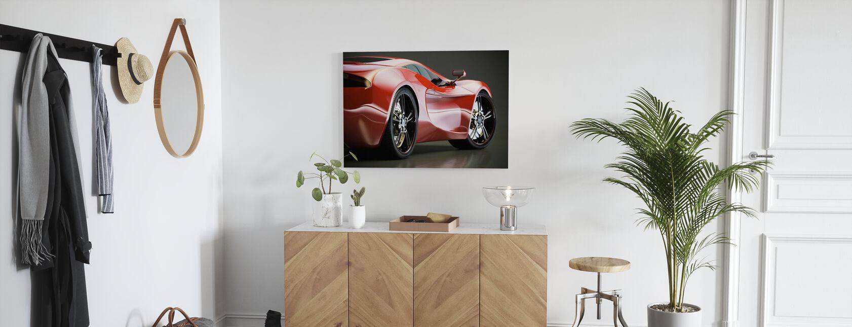 Sports Car - Canvas print - Hallway