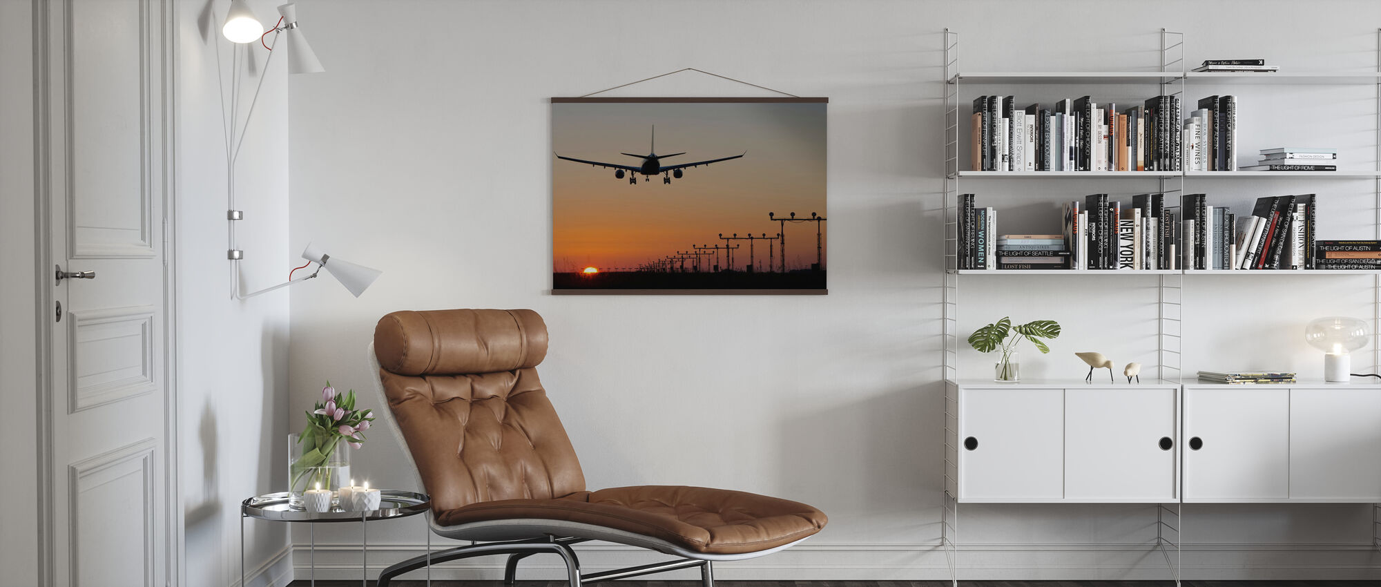 Solnedgang Landing - Plakat - Stue