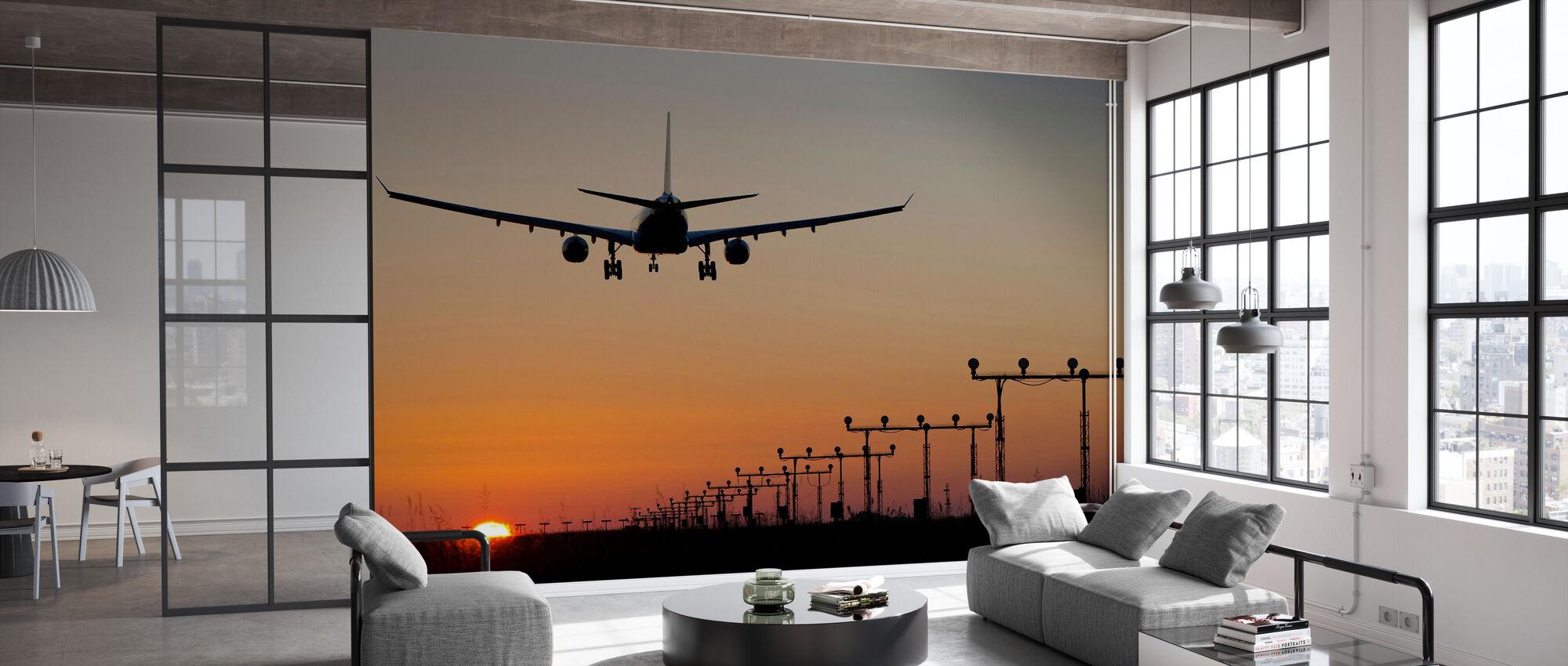 Solnedgang Landing - Tapet - Kontor