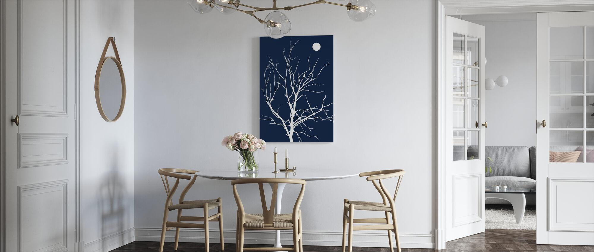 Lonely Bird Night Moon - Canvas print - Kitchen
