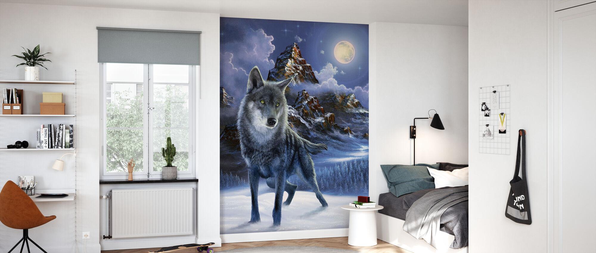 Midnatt ulv - Tapet - Barnerom