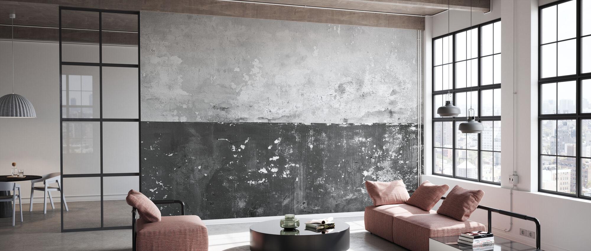 Abblätternde Gipswand - Grau - Tapete - Büro