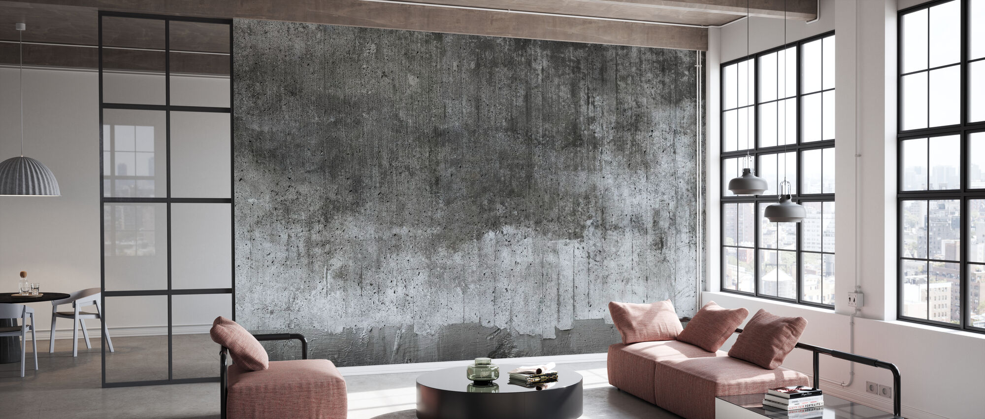 Rough Concrete Wall - Wallpaper - Office