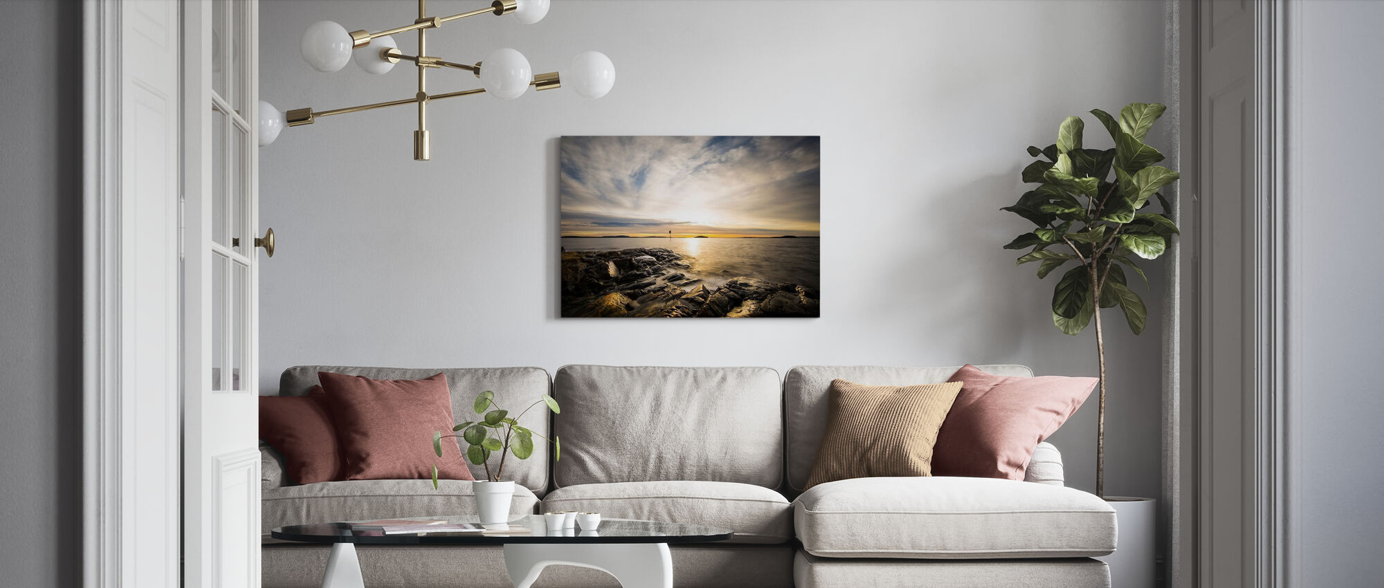 Winter Sunset - Canvas print - Living Room