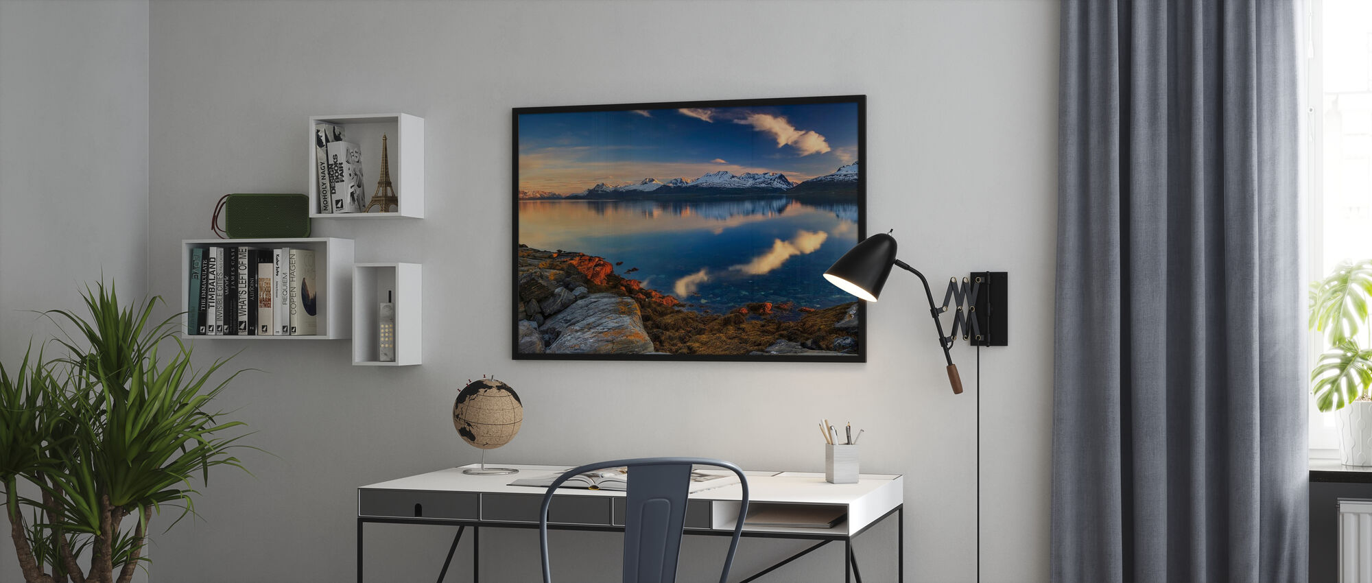 Sunset on the Shore of the Fjord - Poster - Office