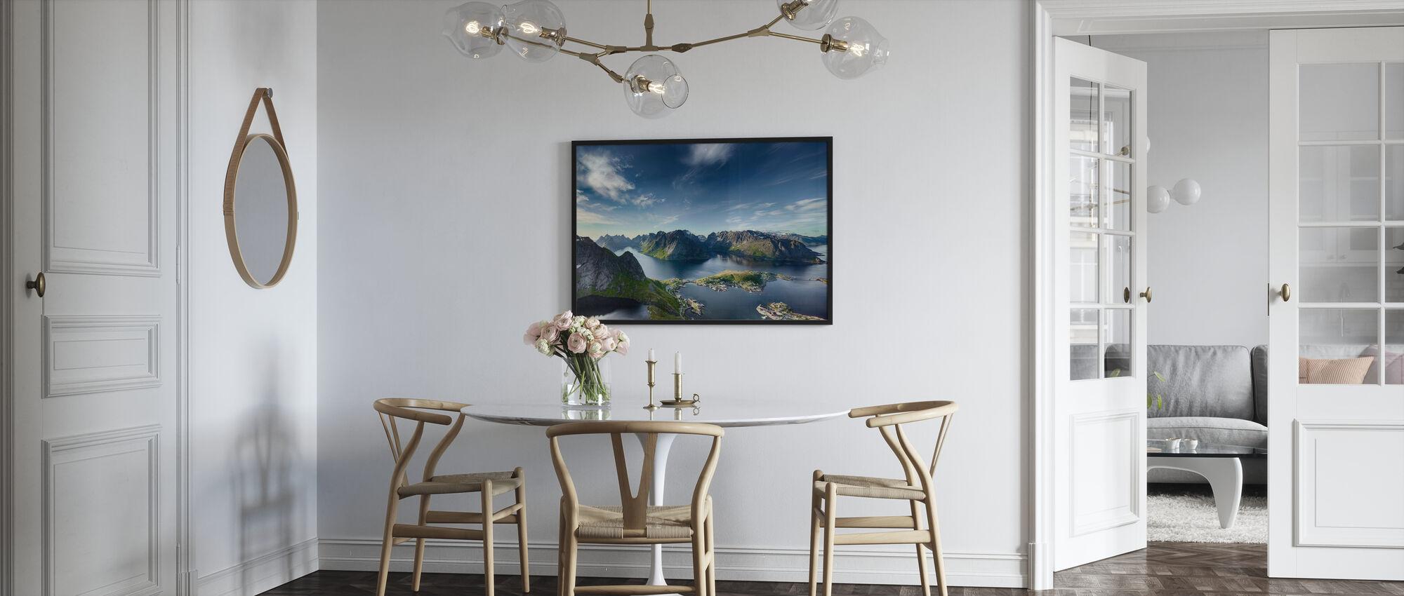 Panoramaansicht von Reine in Lofoten, Norwegen - Poster - Küchen