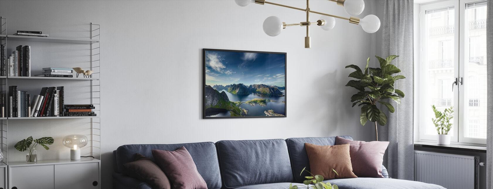 Reine i Lofoten, Norge - Innrammet bilde - Stue