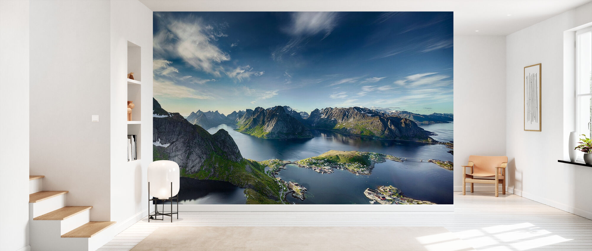 Panoramic View of Reine in Lofoten, Norway - Wallpaper - Hallway