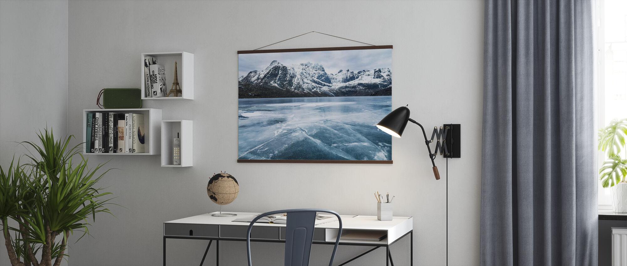 Acqua congelata e catena montuosa - Poster - Uffici