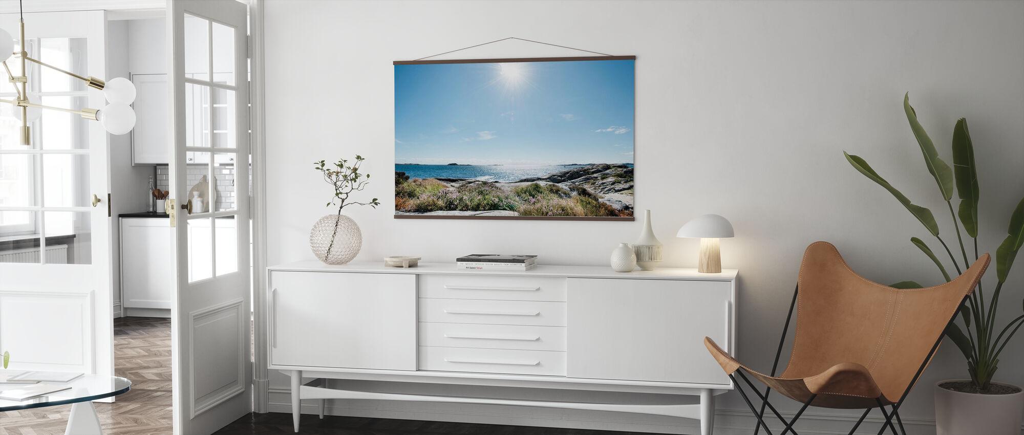 Havet i Bright Sunlight, Södra Norge - Poster - Vardagsrum