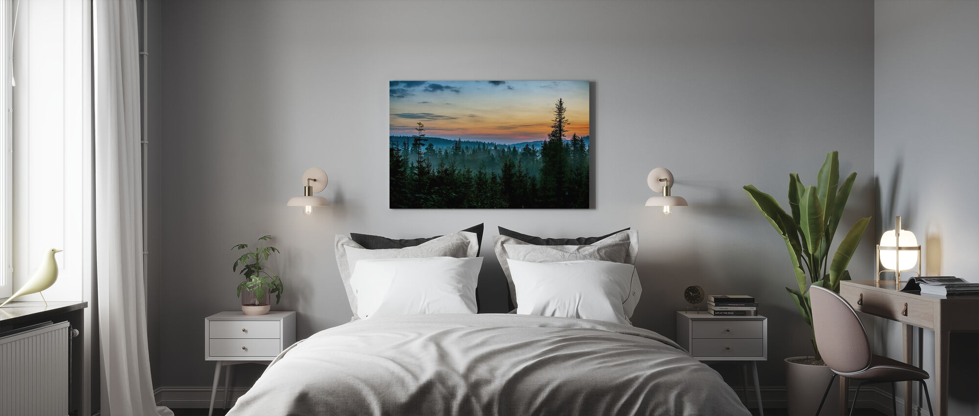 Early Morning in Fir Forest - Canvas print - Bedroom