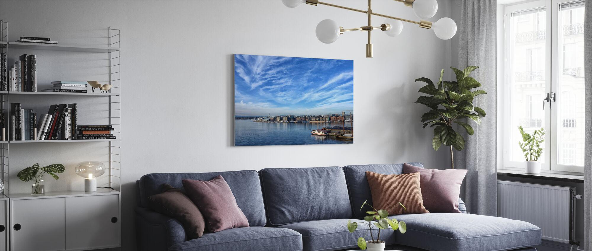 Oslo Harbor, Norja - Canvastaulu - Olohuone