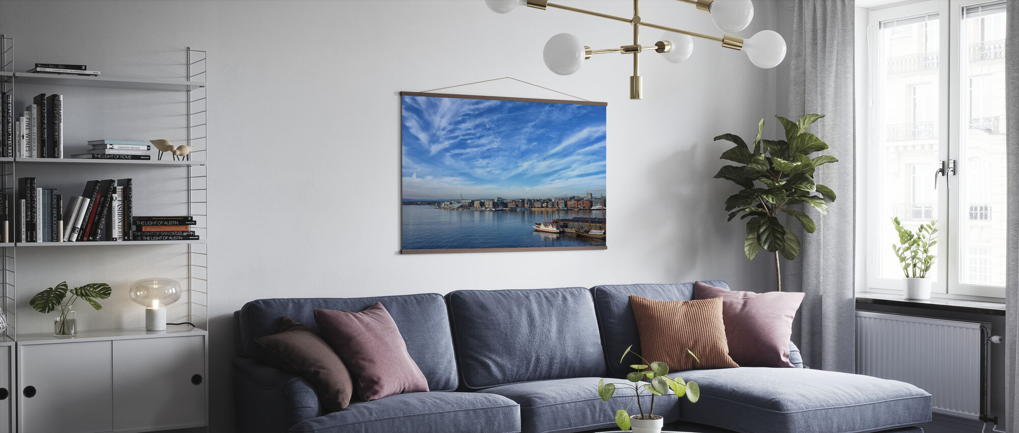 Oslo Harbor, Norway - Poster - Living Room