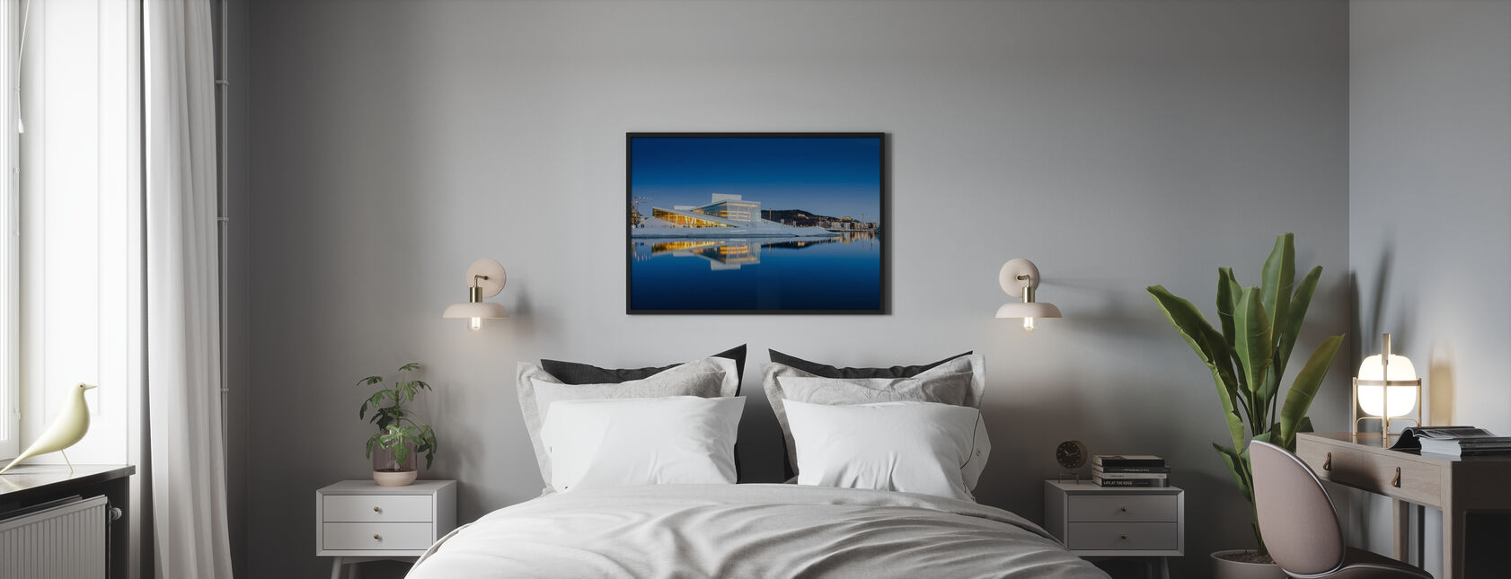 Oslo Opera House by Night - Framed print - Bedroom