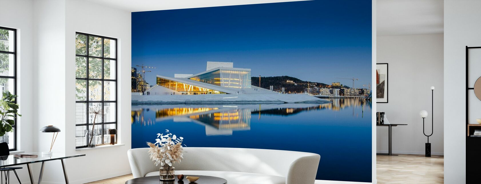Oslo Opera House by Night - Wallpaper - Living Room