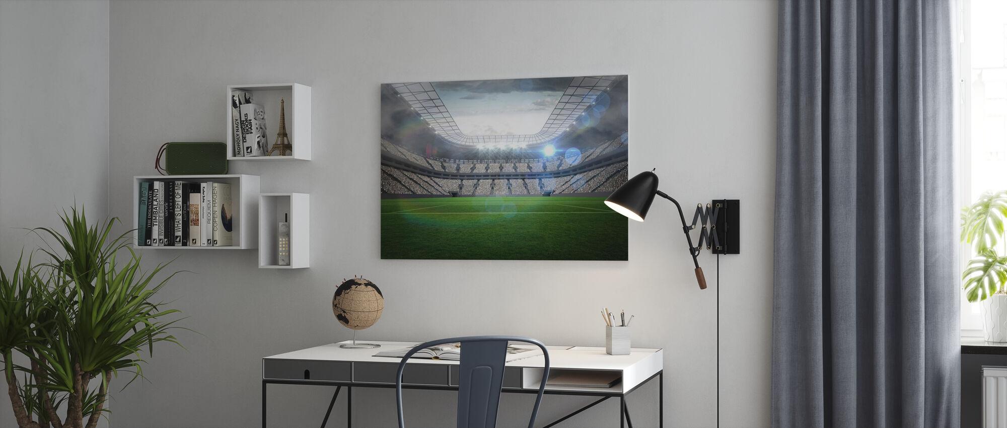 Voetbalstadion - Canvas print - Kantoor