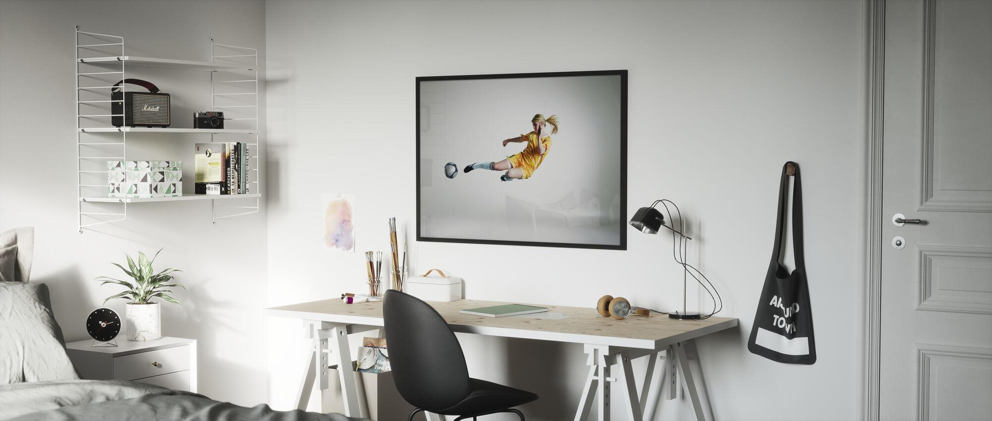 Geschoolde speler - Ingelijste print - Kinderkamer