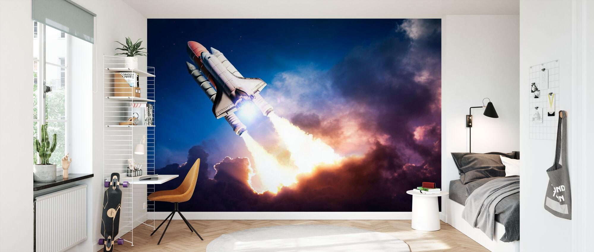 Space Adventure - Wallpaper - Kids Room