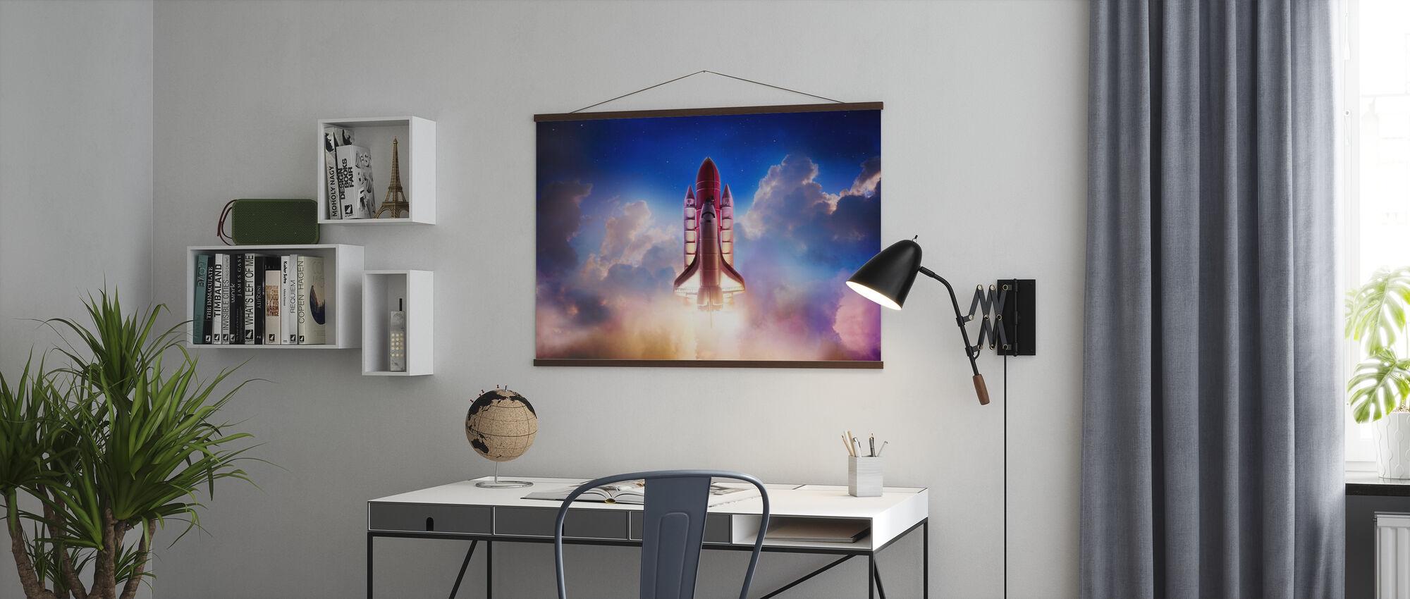 Schub in den Raum - Poster - Büro