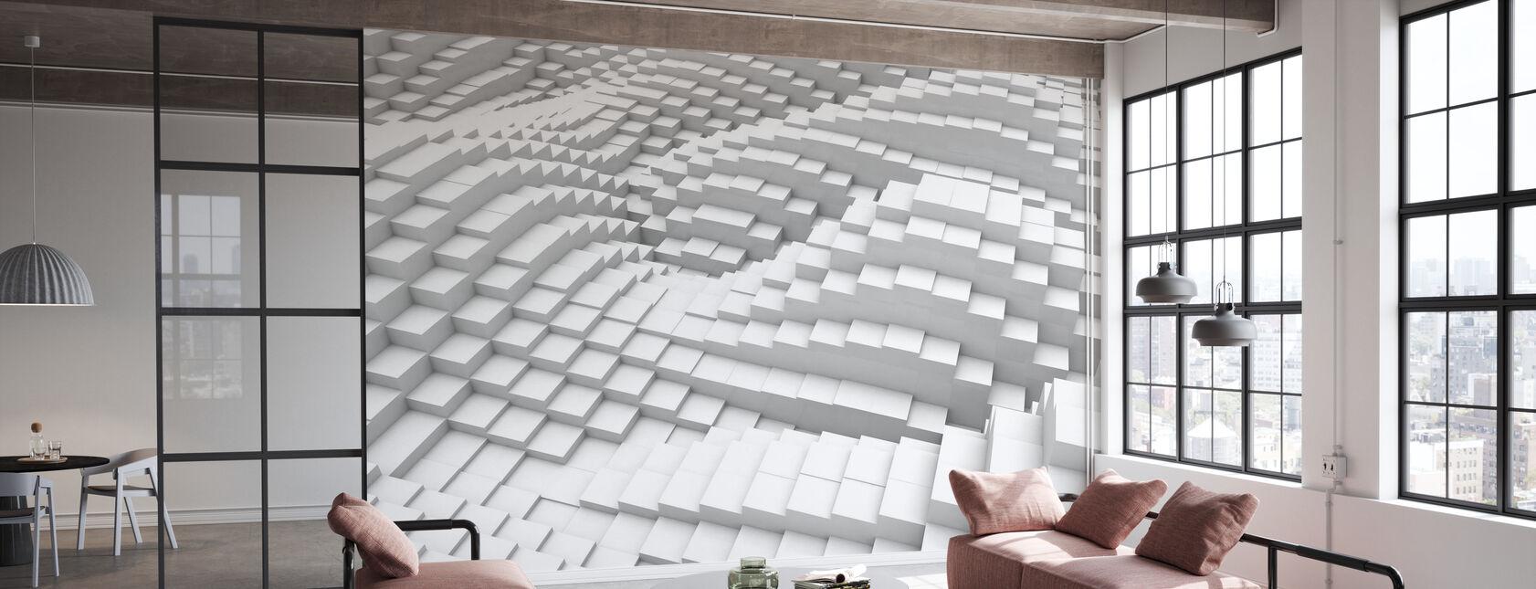 Cubes fluides - Papier peint - Bureau