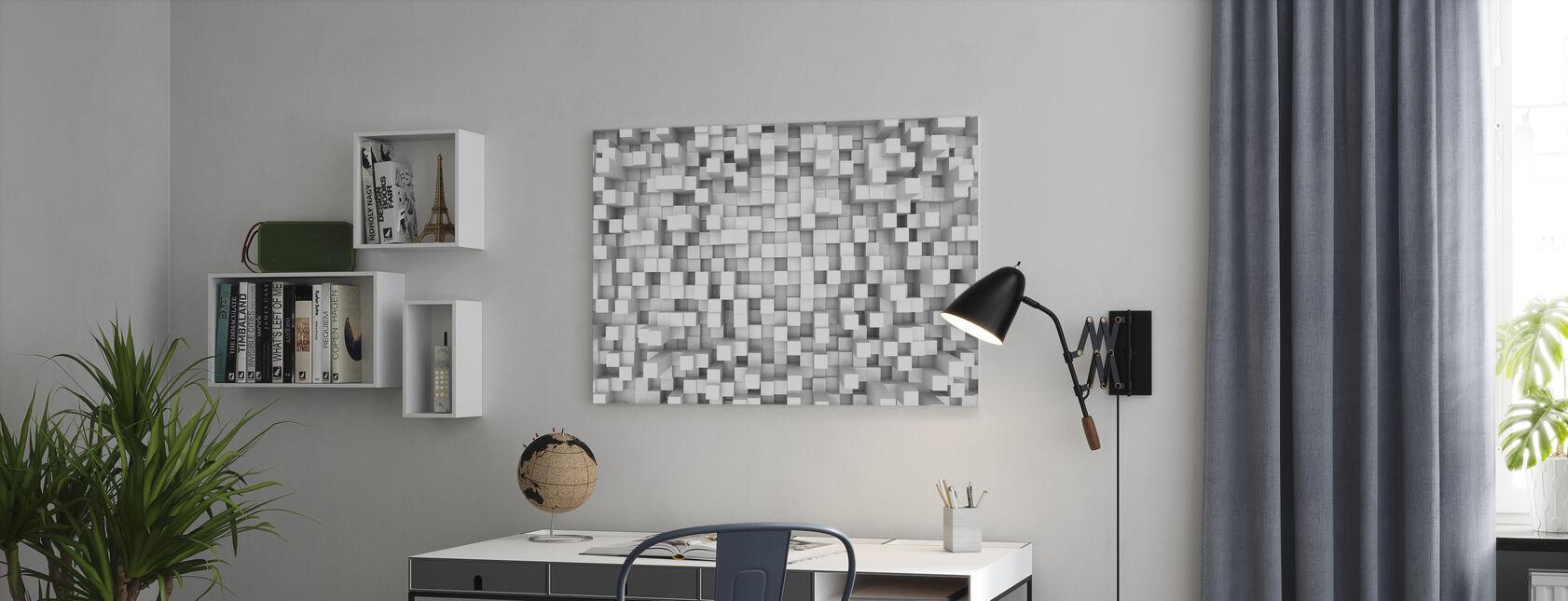 Tetris Pattern - Canvas print - Office
