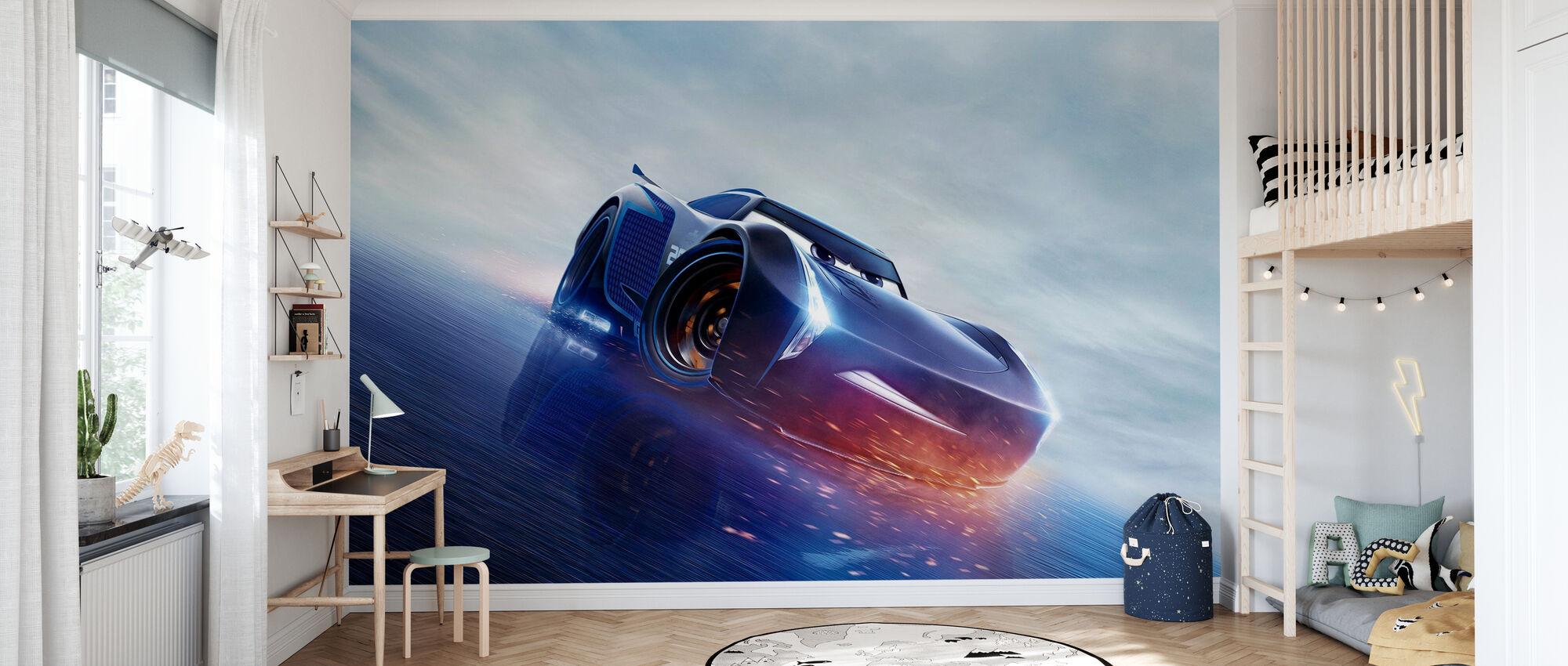 Bilar 3 - Nästa gen Racer - Jackson Storm - Tapet - Barnrum