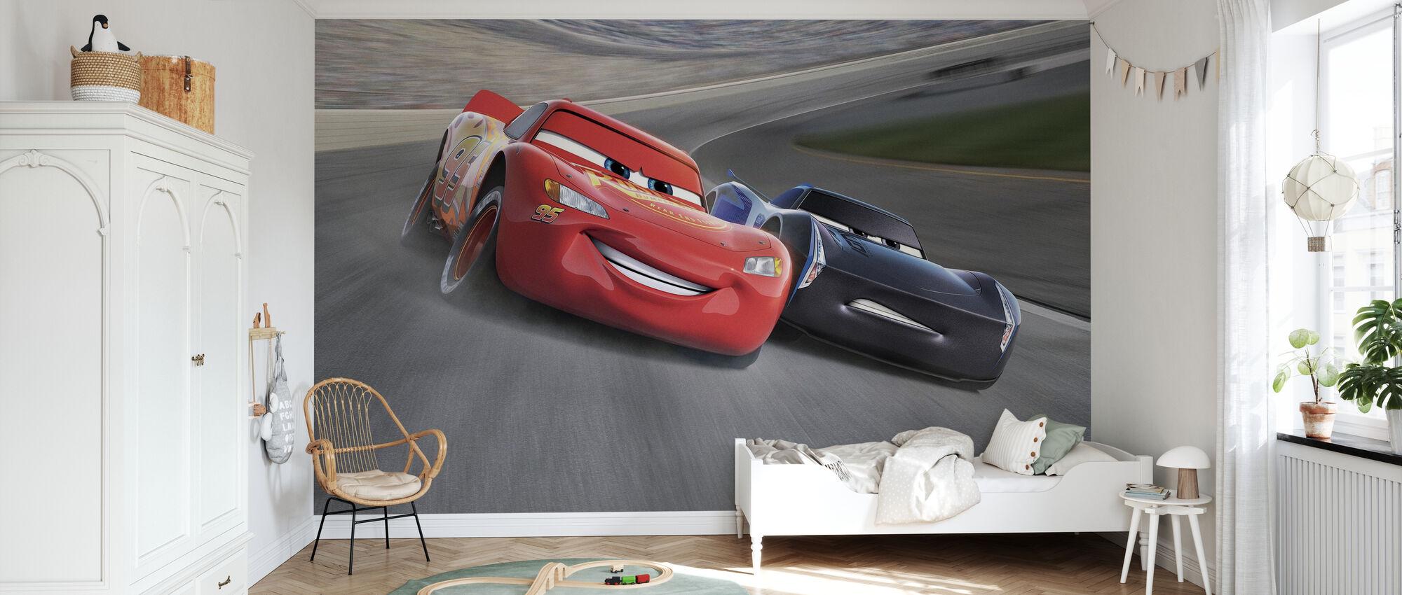 Autot 3 - Ensimmäinen maaliin - Tapetti - Lastenhuone