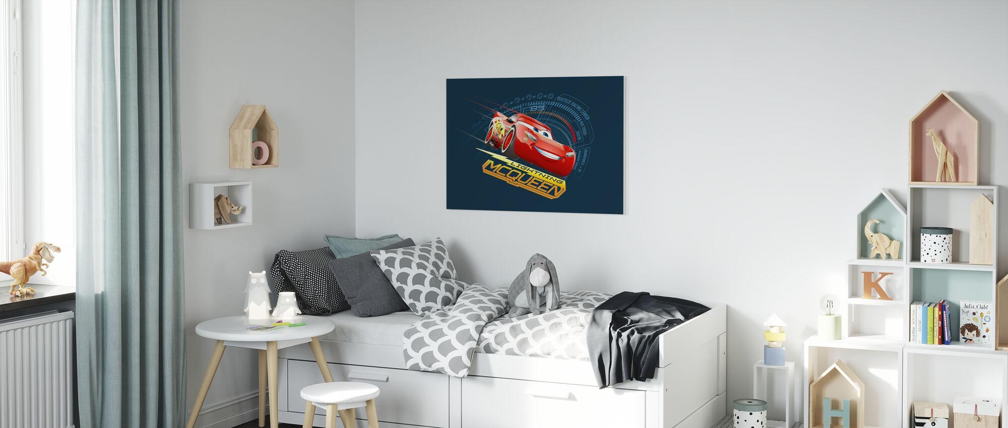 Autot 3 - Lightning McQueen 95 - Canvastaulu - Lastenhuone