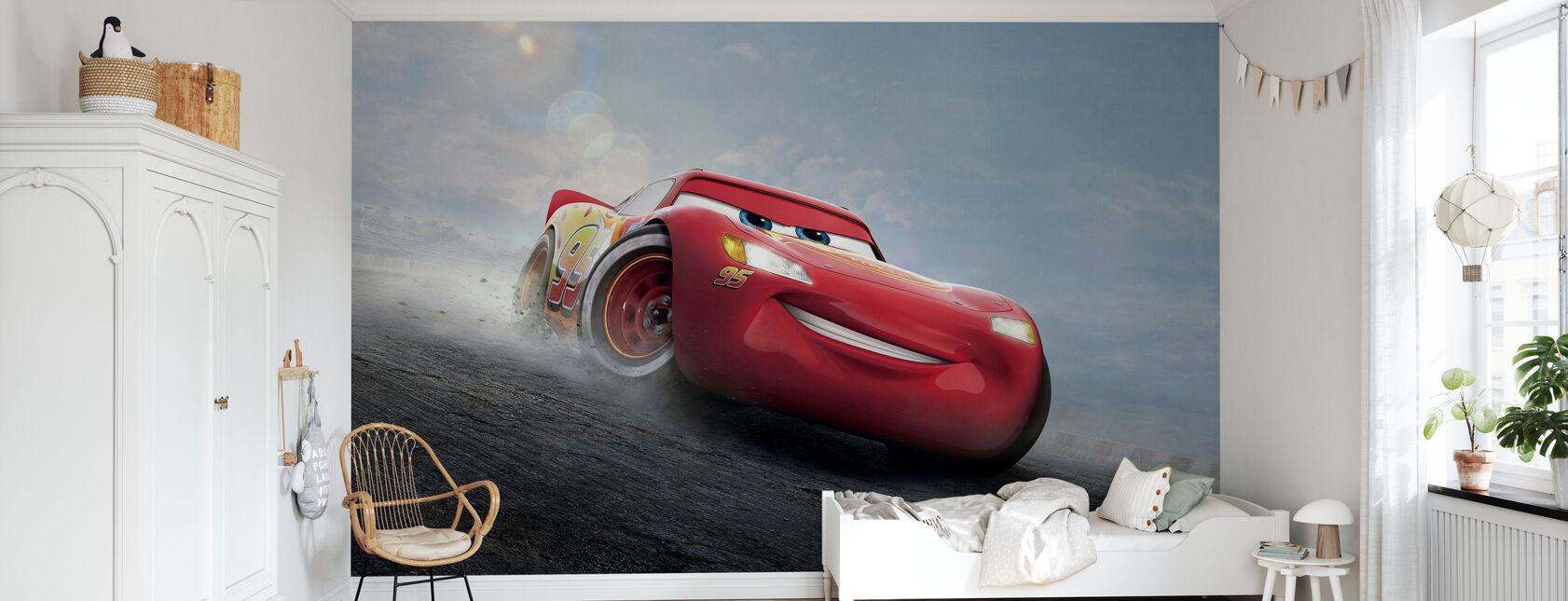 Biler 3 - Den legendariske lynet McQueen - Tapet - Barnerom