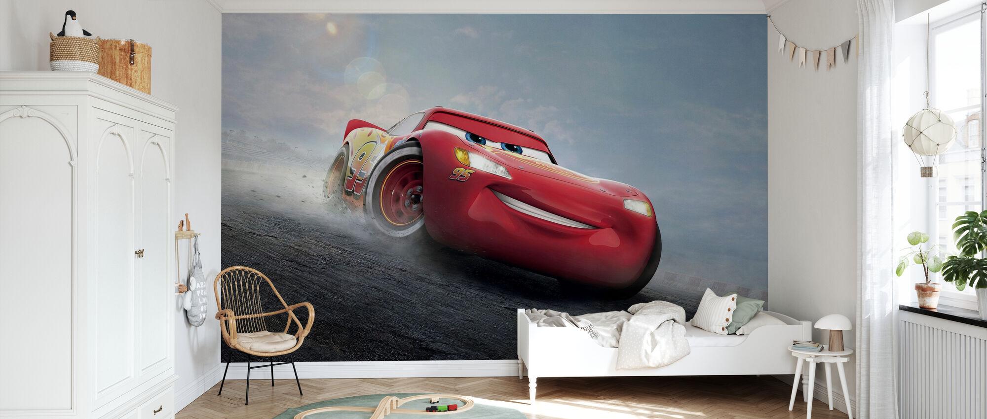 Bilar 3 - Den legendariska Blixten McQueen - Tapet - Barnrum