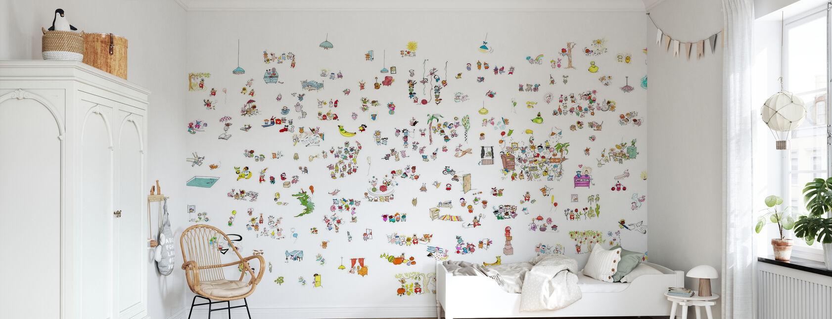 Myller hétéroclite - Papier peint - Chambre des enfants