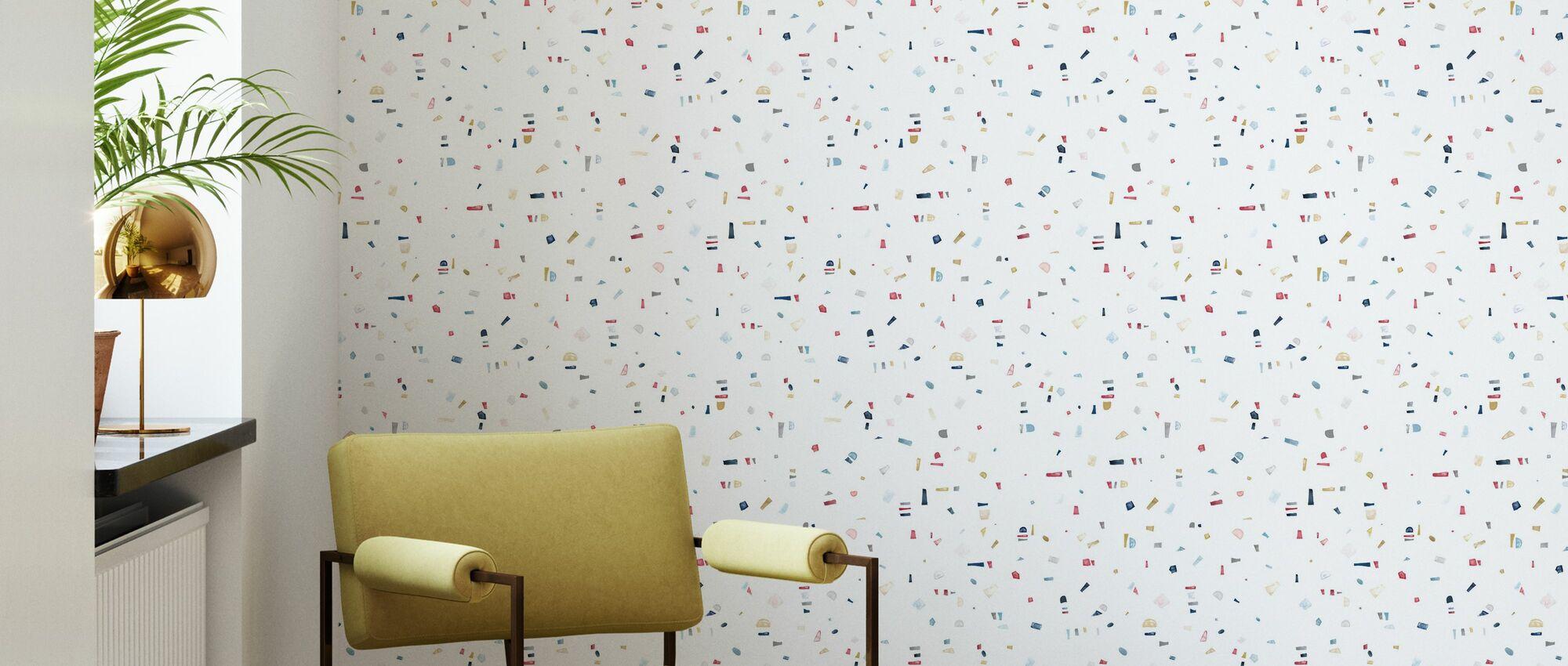 Affinity - Red - Wallpaper - Living Room