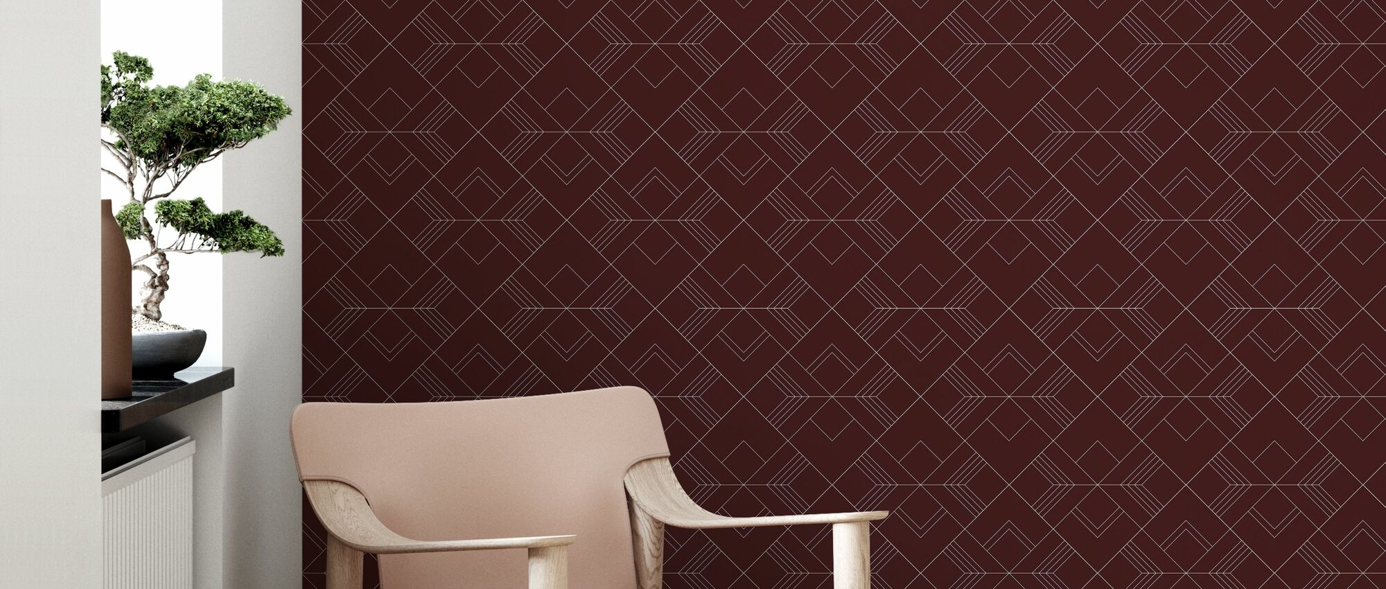 Arrow - Red - Wallpaper - Living Room