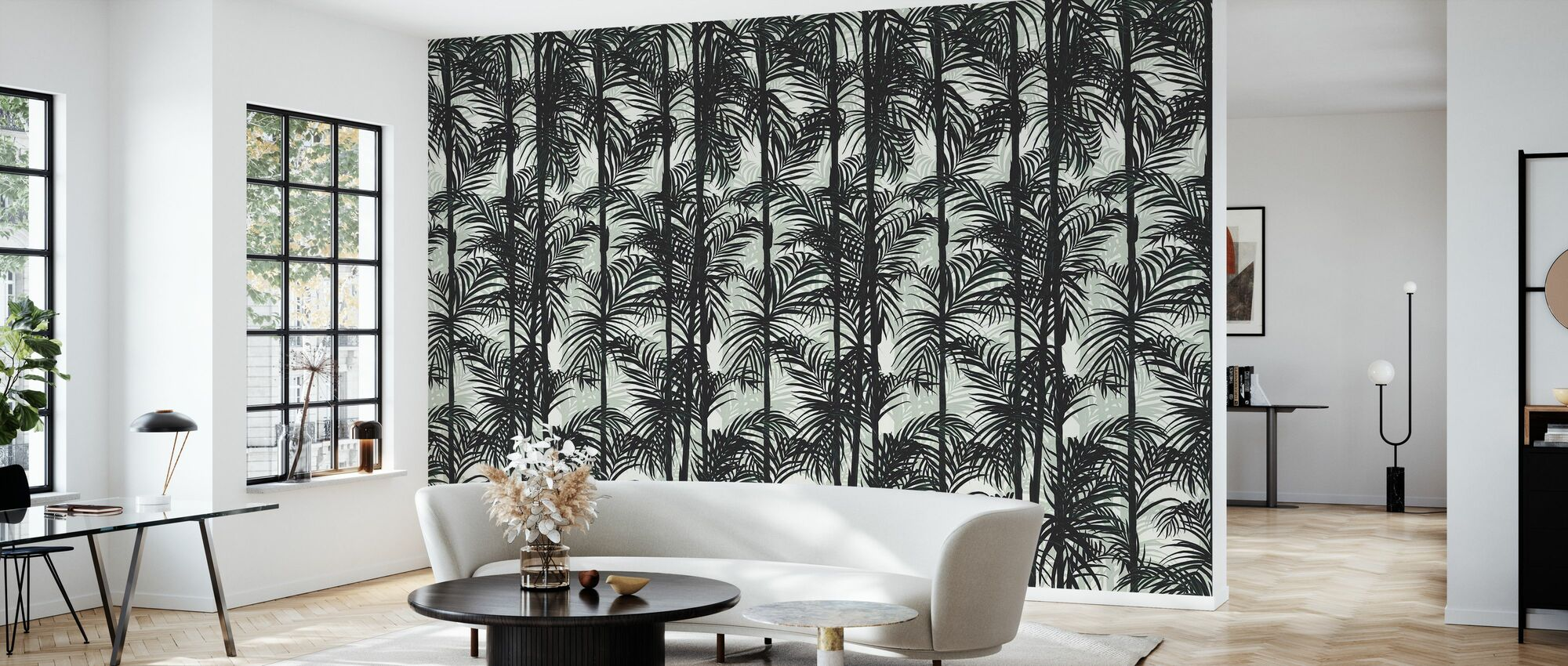 Botany Bamboo - Deep Green - Wallpaper - Living Room