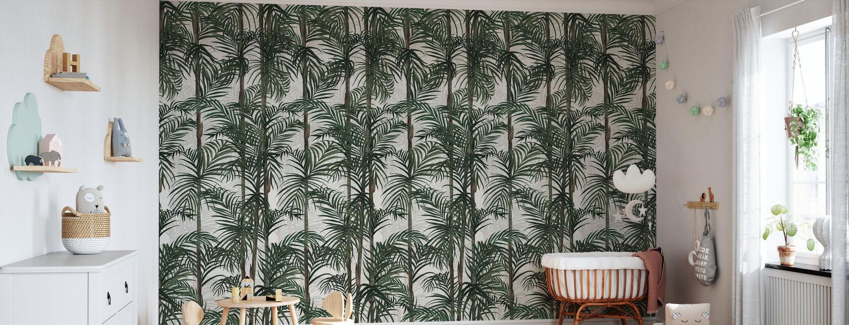Botanik Bambus - Grün - Tapete - Babyzimmer