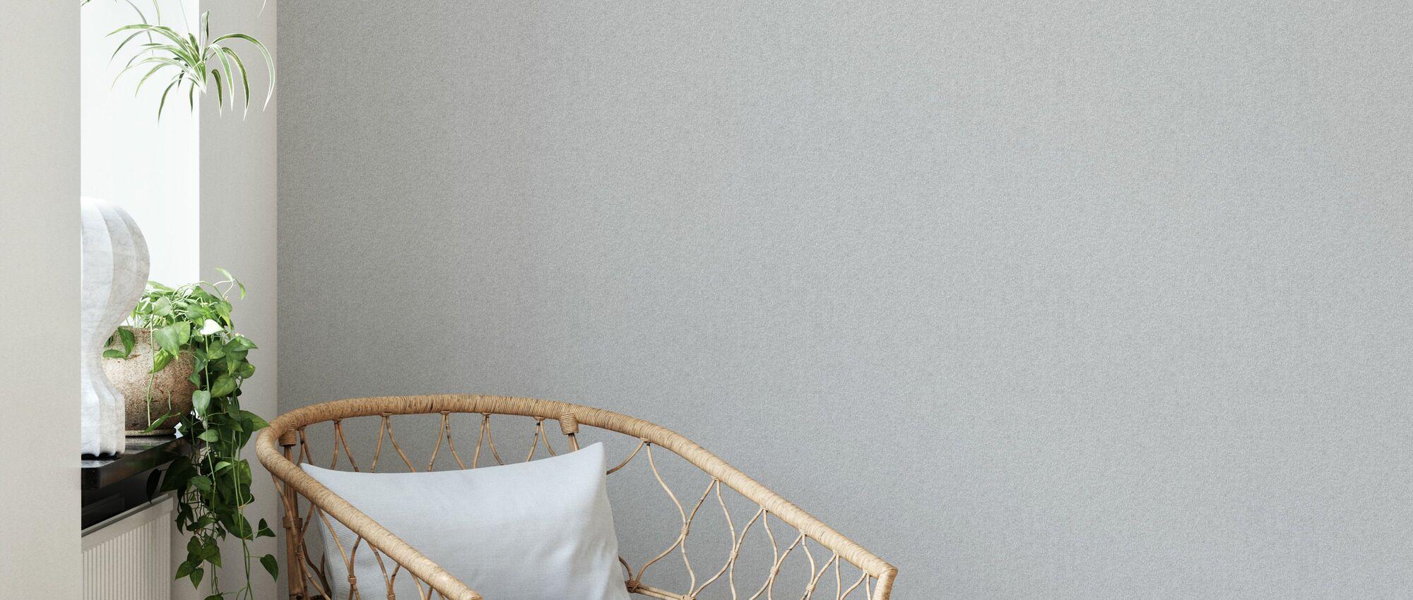 Fine Linen - Light Grey - Wallpaper - Living Room