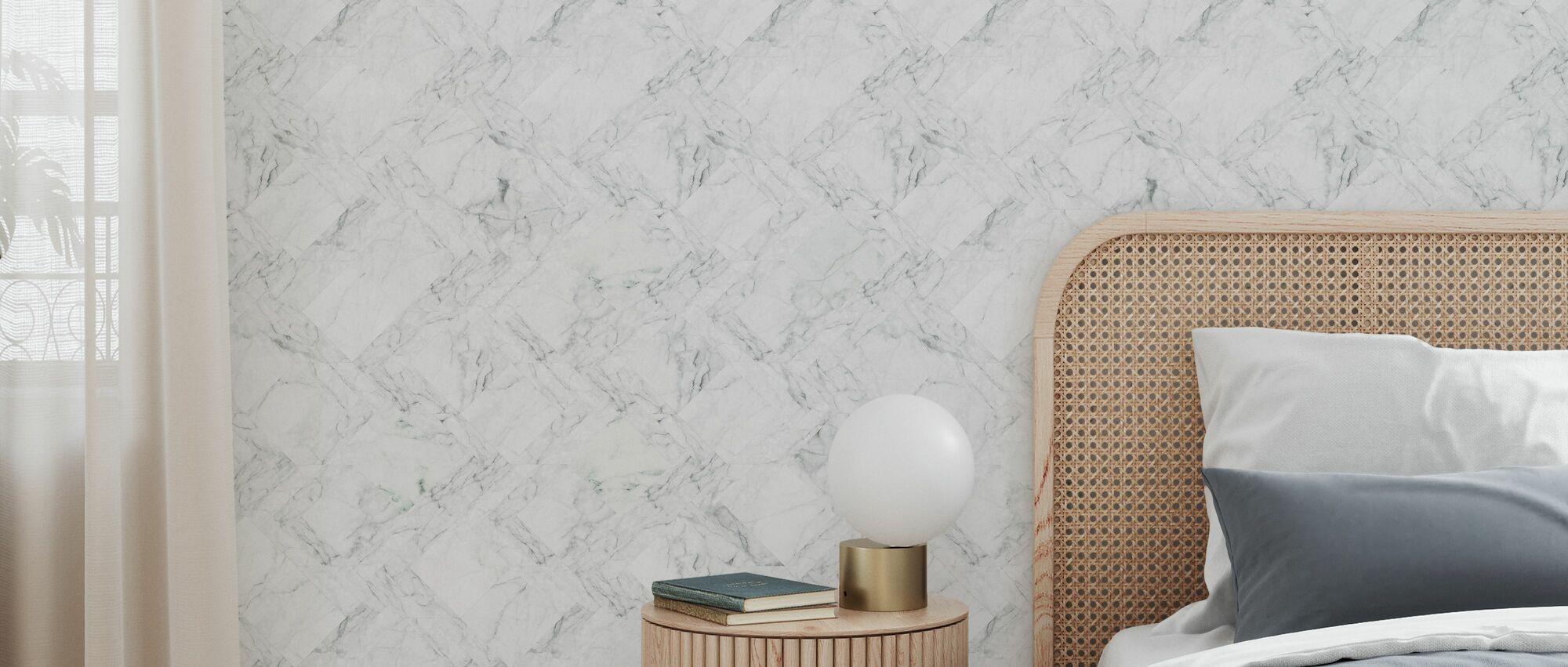 Marble Tiles - Green - Wallpaper - Bedroom
