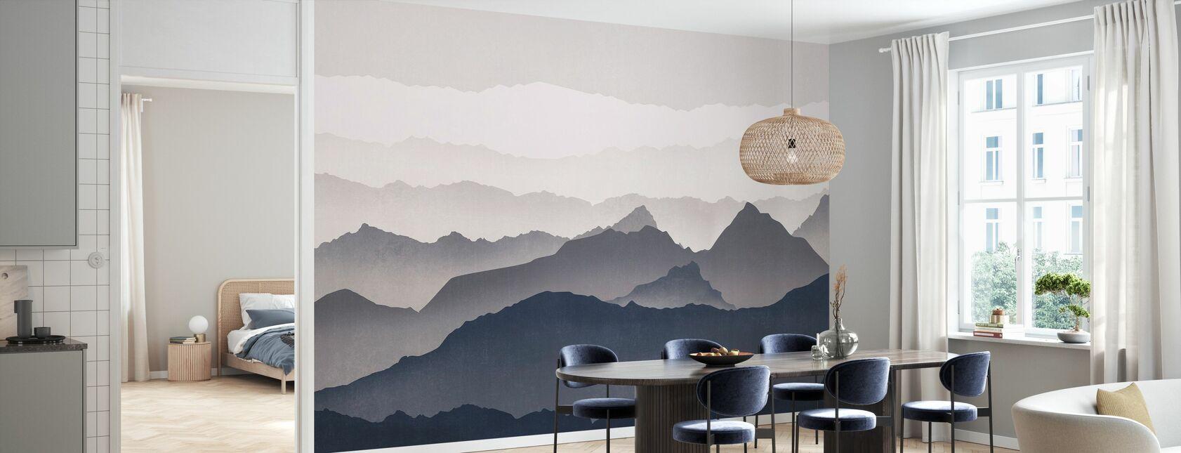 Dimmiga landskap - Blå - Tapet - Kök