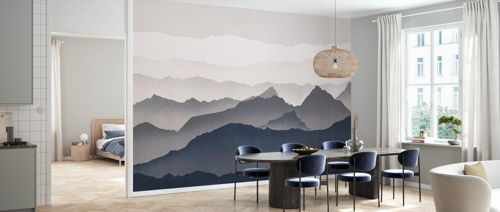 Misty Landskap - Blå - Tapet - Kjøkken