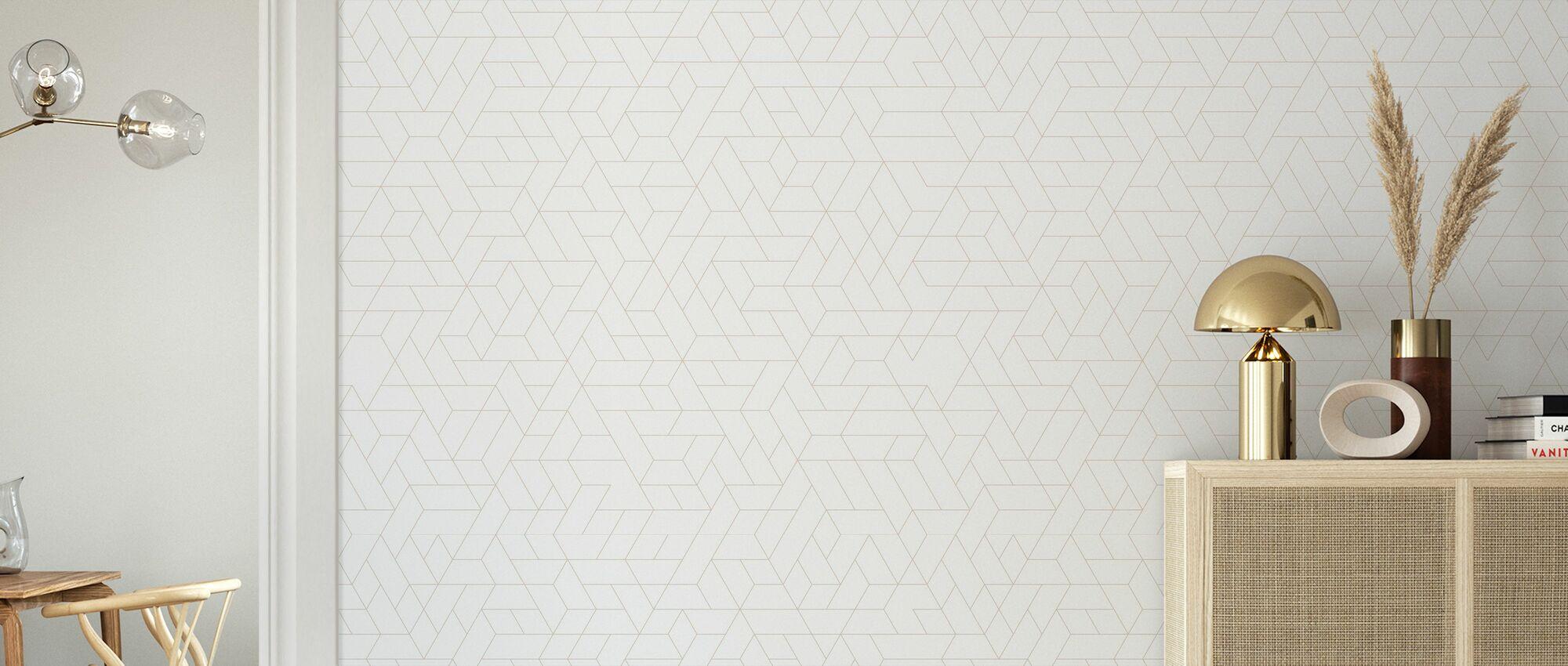 Tracks - White - Wallpaper - Living Room