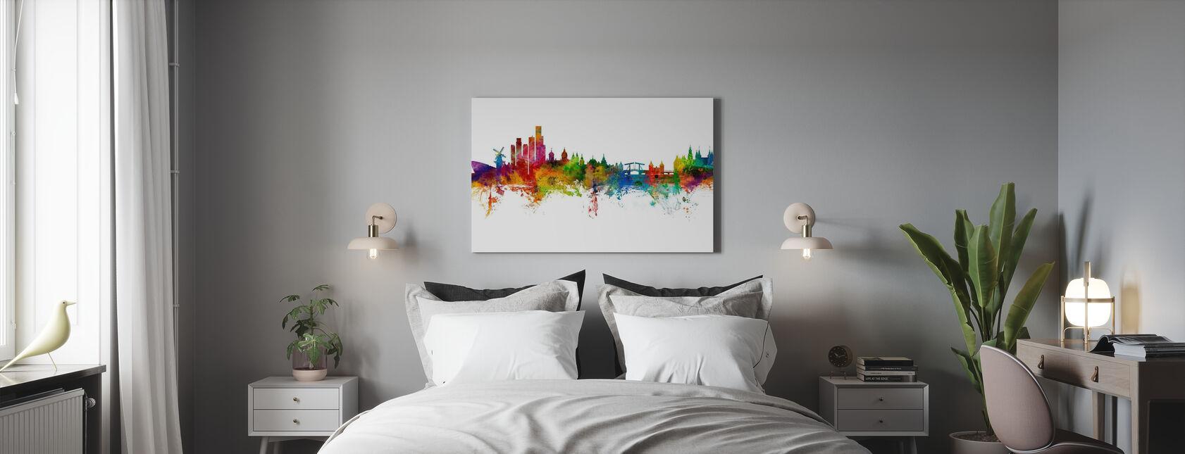 Amsterdamse Skyline windmolen - Canvas print - Slaapkamer